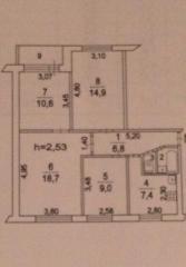 Продается комната в 4-комнатной квартире, Шоссейная ул., 10