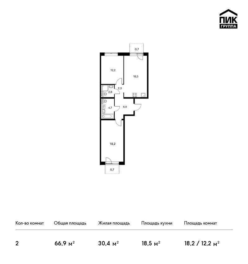 продается 2-комнатная квартира, боровское ш., 2к3